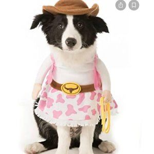 Dog Halloween Stand Up Cowgirl Costume Large